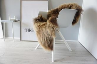 Genuine Icelandic Sheepskin Rug - Rusty brown Mix - Super Soft Touch Long Wool - SI 375