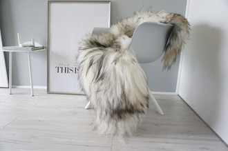 Genuine Icelandic Sheepskin Rug - Blacky Brown | Silver | Ash | Grey Mix - Super Soft Touch Long Wool - SI 408