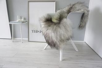 Genuine Icelandic Sheepskin Rug - Silver | Grey | Ash Mix - Super Soft Touch Long Wool - SI 428