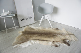 Genuine Super Soft - Extra Large Scandinavian Reindeer Skin Rug  RE 373