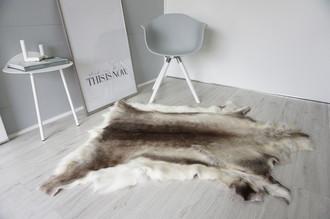 Genuine Super Soft - Extra Large Scandinavian Reindeer Skin Rug  eRE 8