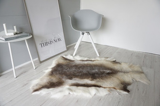 Genuine Super Soft - Extra Large Scandinavian Reindeer Skin Rug  eRE 13