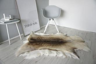 Genuine Super Soft - Extra Large Scandinavian Reindeer Skin Rug  eRE 16