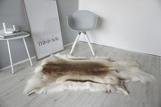 Genuine Super Soft - Extra Large Scandinavian Reindeer Skin Rug  eRE 17