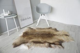Genuine Super Soft - Extra Large Scandinavian Reindeer Skin Rug  eRE 18