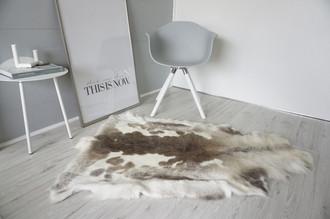 Rare Spotted Genuine Super Soft - Extra Large Scandinavian Reindeer Skin Rug  eRE 19