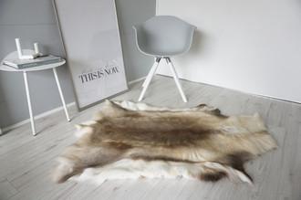Genuine Super Soft - Extra Large Scandinavian Reindeer Skin Rug  eRE 21