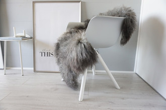 Genuine - Rare Breed Scandinavian Pelssau Sheepskin Rug - Extremely Soft Silky Wool - Silver | Grey | Ash | Brown Mix - SS 99