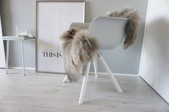 Genuine - Rare Breed Scandinavian Pelssau Sheepskin Rug - Extremely Soft Silky Wool - Silver | Grey | Ash | Brown Mix - SS 103