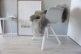 Genuine - Rare Breed Scandinavian Pelssau Sheepskin Rug - Extremely Soft Silky Wool - Silver | Grey | Ash | Brown Mix - SS 107