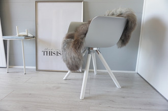Genuine - Rare Breed Scandinavian Pelssau Sheepskin Rug - Extremely Soft Silky Wool - Silver | Grey | Ash | Brown Mix - SS 121