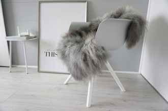 Genuine - Rare Breed Scandinavian Pelssau Sheepskin Rug - Extremely Soft Silky Wool - Silver | Grey | Ash | Brown Mix - SS 213