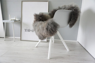 Genuine - Rare Breed Scandinavian Pelssau Sheepskin Rug - Extremely Soft Silky Wool - Silver | Grey | Ash | Brown Mix - SS 214