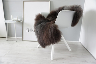 Genuine - Rare Breed Scandinavian Pelssau Sheepskin Rug - Extremely Soft Silky Wool - Silver | Grey | Ash | Brown Mix - SS 219