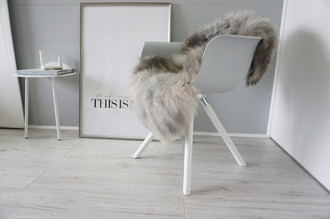 Genuine - Rare Breed Scandinavian Pelssau Sheepskin Rug - Extremely Soft Silky Wool - Silver | Grey | Ash | Brown Mix - SS 225
