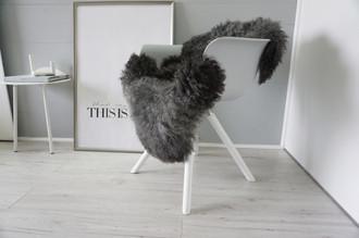 Genuine - Rare Breed Scandinavian Pelssau Sheepskin Rug - Extremely Soft Silky Wool - Silver | Grey | Ash | Brown Mix - SS 226