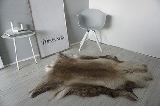 Genuine Super Soft - Extra Large Scandinavian Reindeer Skin Rug  RE 389