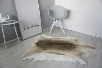 Genuine Super Soft - Extra Large Scandinavian Reindeer Skin Rug  RE 392