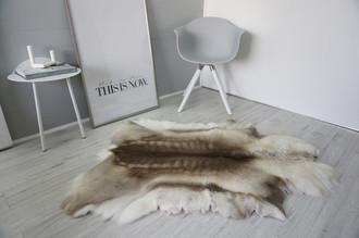 Genuine Super Soft - Extra Large Scandinavian Reindeer Skin Rug  RE 395