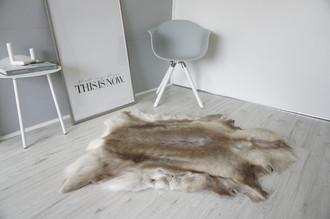 Genuine Super Soft - Extra Large Scandinavian Reindeer Skin Rug  RE 407