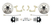 DBK5964LX-B  - 1959-1964 Full Size Chevy Complete Disc Brake Conversion Kit w/ Powder Coated Black Calipers & Drilled/ Slotted Rotors