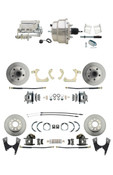 "DBK59641012FS-GMFS2-328  - 1959-1964 GM Full Size Front & Rear Power Disc Brake Kit (Impala, Bel Air, Biscayne) & 8"" Dual Chrome Booster Conversion Kit w/ Flat Top Chrome Master Cylinder Bottom Mount Disc/ Drum Proportioning Valve Kit"