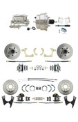 "DBK59641012FS-GMFS2-330  - 1959-1964 GM Full Size Front & Rear Power Disc Brake Kit (Impala, Bel Air, Biscayne) & 8"" Dual Chrome Booster Conversion Kit w/ Chrome Master Cylinder Bottom Mount Disc/ Drum Proportioning Valve Kit"
