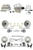 "DBK55581012FS-GMFS1-330  - 1955-1958 GM Full Size Front & Rear Power Disc Brake Kit (Impala, Bel Air, Biscayne) & 8"" Dual Chrome Booster Conversion Kit w/ Chrome Master Cylinder Bottom Mount Disc/ Disc Proportioning Valve Kit"