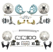 DBK62671012LX  - 1962-1967 Chevrolet Nova Front & Rear Brake Conversion Kit Drilled & Slotted Rotors