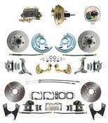 """DBK62671012-GM-234  - 1962-1967 Nova Power Front & Rear Disc Brake Conversion Kit w/ 9"""" 3 Stud Booster"""