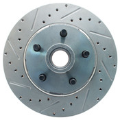 5406LX - 1964-1973 Mustang Drivers Rotor Drilled Slotted