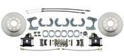"DBK9B-  Ford 9"" Rear End Disc Brake Kit w/ E-brake & Powder Coated Black Calipers"