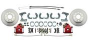 "DBK9R-  Ford 9"" Rear End Disc Brake Kit w/ E-brake & Powder Coated Red Calipers"