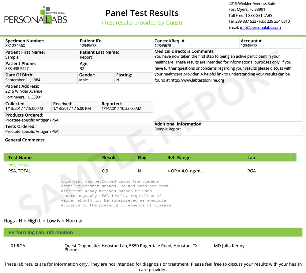 Sample Reports | Product Information And Sample Reports