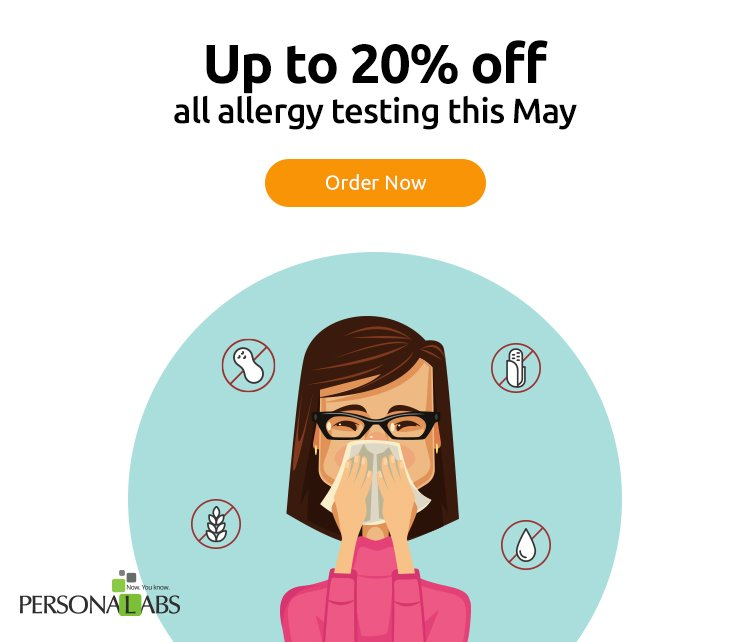 Up to 20% off all allergy testing this May