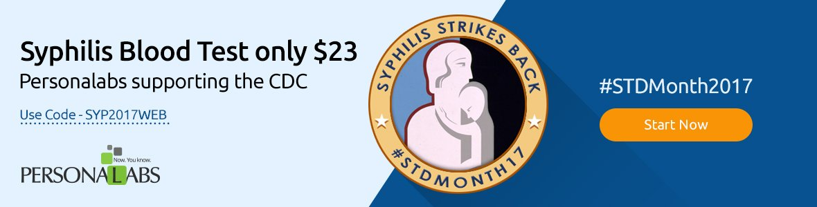 Syphilis Blood Test only $23