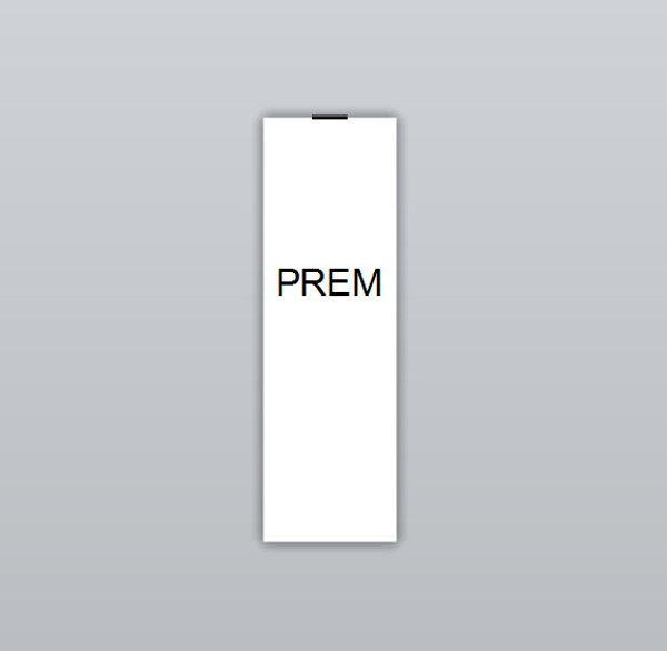 Size PREM Clothing Labels by Ted + Toot labels