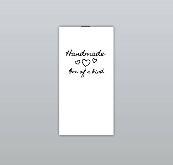 Handmade one of a kind (three white hearts) Clothing Labels by Ted + Toot Labels