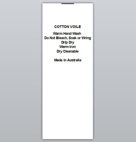 Cotton Voile Clothing Labels by Ted + Toot labels