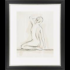 Nude Sitting in Pencil II, Framed