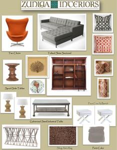 Interiors To Go Great Room or Bonus Room {e-decorating service}