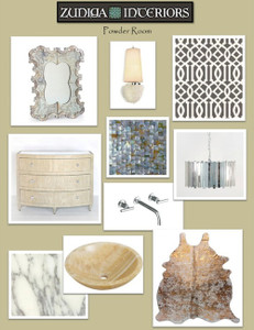 Interiors To Go Powder Room or Foyer {e-decorating service}