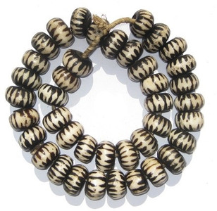 Decorative Bone Batik African Trade Beads