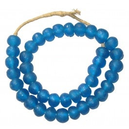Decorative Glass Trade Beads in Deep Blue
