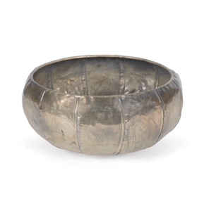 Rustic Brass Bowl with Nickel finish