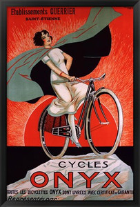 Onyx Cycles Vintage Framed Poster