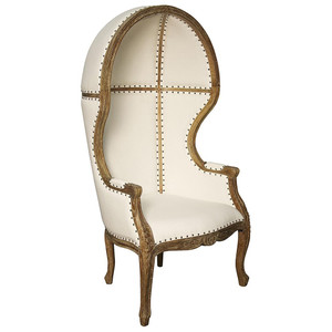 Louis Canopy Chair in Antiqued Finish