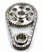 ROLLMASTER Ford Small Block 302/351 PRE/EFI Red Series with shim & non-nitrided sprockets, 9 keyway crank sprocket CS3010