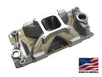 BMP 061041 SBC Intake Manifold 4150 Carb Flange for Chevy Bowtie Vortec series Heads