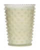No. 42 White Flower Hobnail Glass Candle